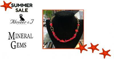 offerta collana corallo bambu alcozer collezione unic promozione gioielli alcozer mineral gems