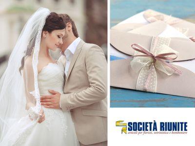 offerta bomboniere matrimonio promozione partecipazioni nozze societa riunite