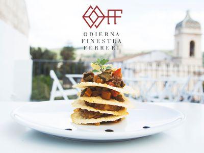 offerta nuova apertura odierna finestra ferreri promozione ristorante cucina siciliana ibla