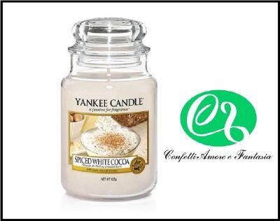offerta vendita on line yankee candle candele profumate spiced white cocoa giara grande