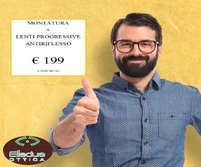 offerta montatura e lenti progressive trani promozione lenti antiriflesso cerignola elledue