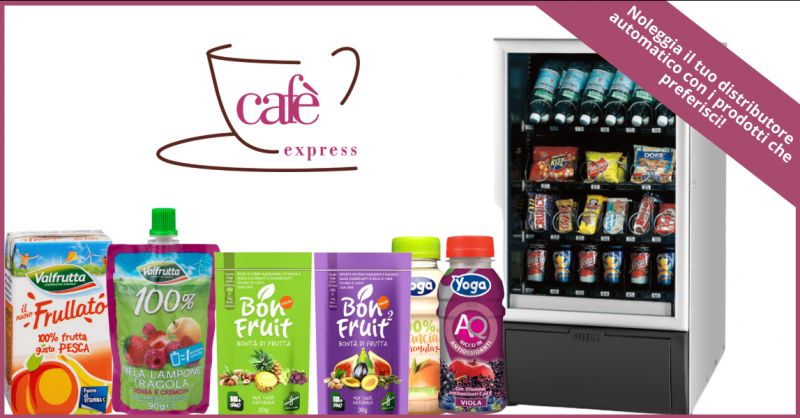 CAFE EXPRESS - offerta noleggio distributori automatici bibite ragusa