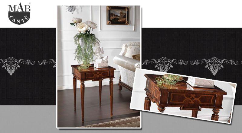 MAB Cantù – offerta tavolino quadrato collezione Ducale como – promozione mobili in legno artigianali como