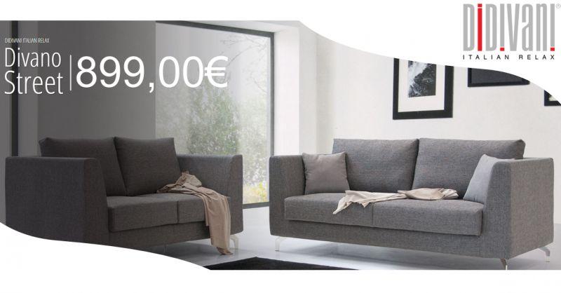 Offerta vendita divano Street stile moderno Buccino - Il Salotto e Dintorni Arredamenti