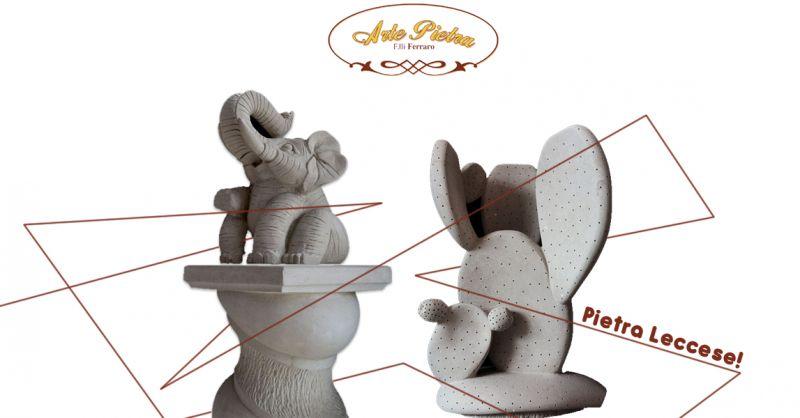 Offerta realizzazione sculture animali in pietra leccese a Surbo -  Arte Pietra