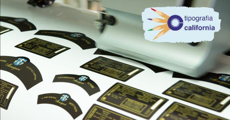 TIPOGRAFIA CALIFORNIA offerta etichette con codici a barre - occasione realizzazione adesivi
