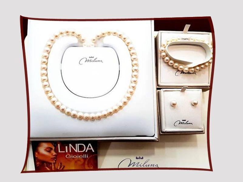 Offerta vendita collane e bracciali  in perle made in Italy Miluna a Salerno - Linda Gioielli