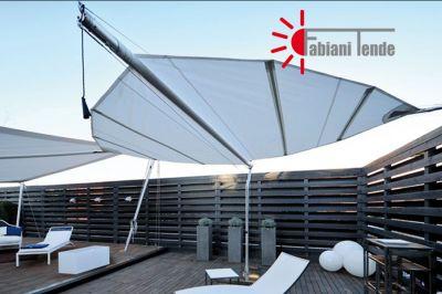 fabiani tende offerta sun sails da esterno promozione tende a vela di design