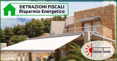 offerta ecobonus acquisto tende da sole promozione detrazioni fiscali risparmio energetico