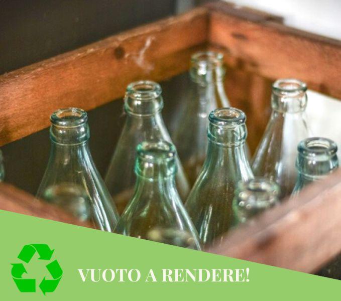 TUTTO PEPE offerta acqua in vetro bottiglie - vuoto a rendere sprecare meno plastica