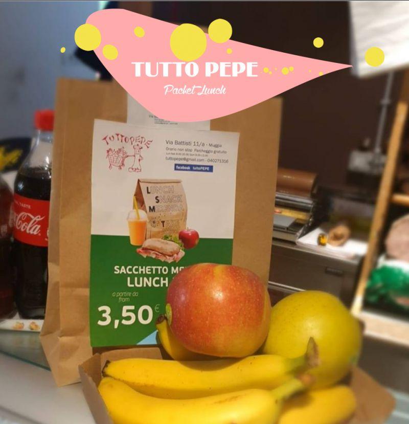 TUTTO PEPE offerta pranzo merenda da asporto – promozione packet lunch muggia