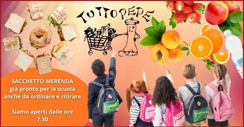 offerta colazioni e merende per la scuola gia confezionate alimentari Trieste - TUTTO PEPE
