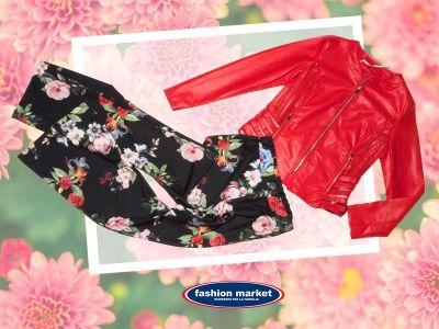 offerta fashion market linea donna pantalone fiori occasione collezione abiti donna primavera