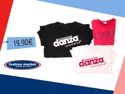offerta fashion market abbigliamento sportivo occasione t shirt donna dimensione danza