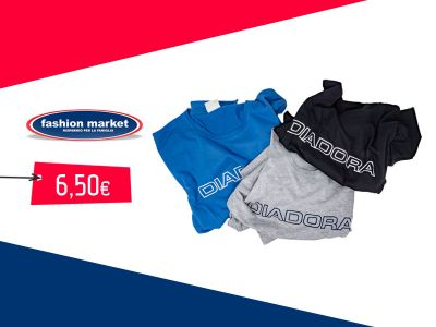 offerta tshirt diadora sportiva uomo occasione abbigliamento da palestra fashion market