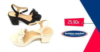 offerta fashion market sandalo donna collezione estate occasione calzature estive donna
