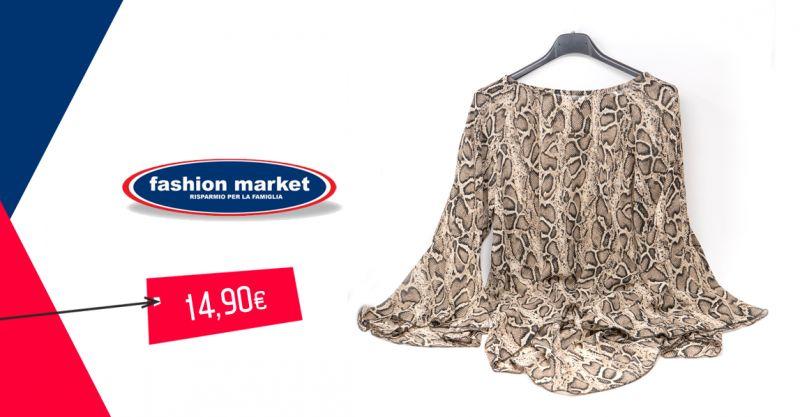 offerta Fashion Market abbigliamento donna animalier - occasione outfit donna etnico pitonato