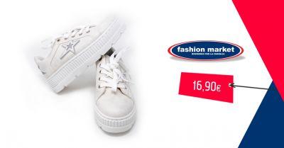 fashion market offerta sneakers bianche da donna occasione scarpe da ginnastica donna