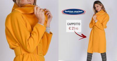 fashion market offerta cappotto color ocra da donna occasione cappotti donna nuova collezione