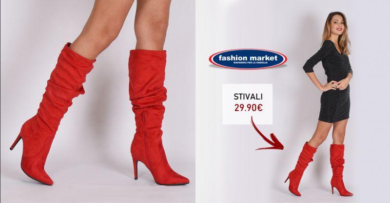 Fashion Market offerta calzature da donna in camoscio - occasione Stivali  alti rossi Donna Roma 5f02e43473d