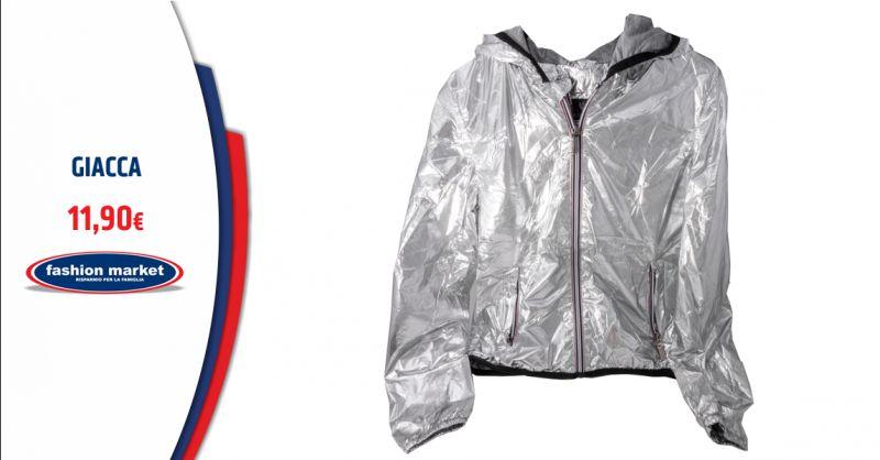 FASHION MARKET Offerta Giacca Donna color Argento Roma - Occasione Collezione giacche Donna