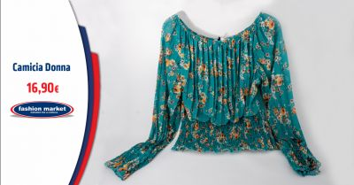 fashion market offerta camicette floreali donna occasione blusa stampa a fiori
