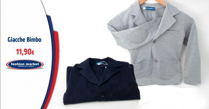 FASHION MARKET Offerta Giacca Elegante per Bambino - Occasione Giubbotti e Giacche per Bimbo
