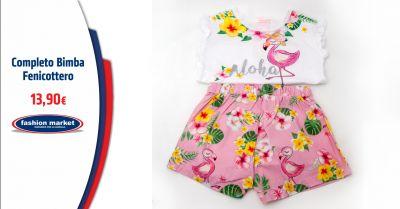 fashion market completo bimba con fenicotteri occasione abbigliamento per bimba