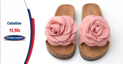 fashion market offerta ciabatte estive donna occasione ciabattine e zoccoli da donna