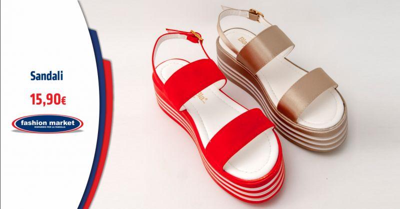 FASHION MARKET Offerta Sandali Donna da Città - Occasione Ciabatte donna da piscina