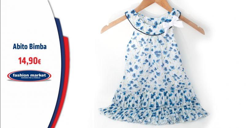 Offerta Abito Bimba smanicato a fantasia floreale - Occasione Abbigliamento e vestiti Bambina