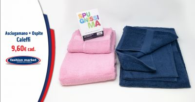 offerta vendita asciugamani caleffi occasione set bagno asciugamani in spugna