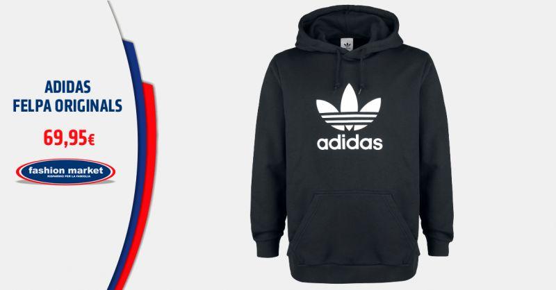 FASHION MARKET Offerta Felpa Adidas Originals logo trefoil - Occasione Abbigliamento adidas Originals