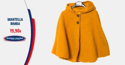fashion market offerta mantella con cappuccio da bimba occasione poncho per bambina