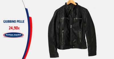 fashion market offerta giubbotto in pelle biker uomo occasione giacca pelle uomo vintage