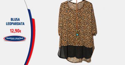 fashion market offerta camicia donna leopardata occasione blusa leopardata femminile