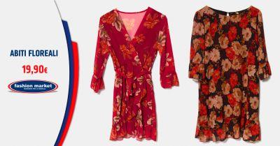 offerta abiti con stampa floreale occasione vestiti a fiori inverno 2019