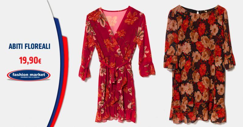 Offerta Abiti con stampa floreale - Occasione vestiti a fiori inverno 2019