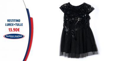fashion market offerta abito in tulle lurex bambina occasione vestiti da sera bimba