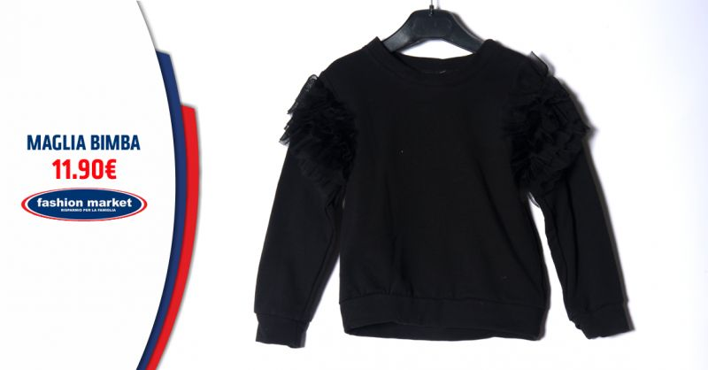Offerta abbigliamento da Bambina Fashion - Occasione Maglietta Bimba alla moda