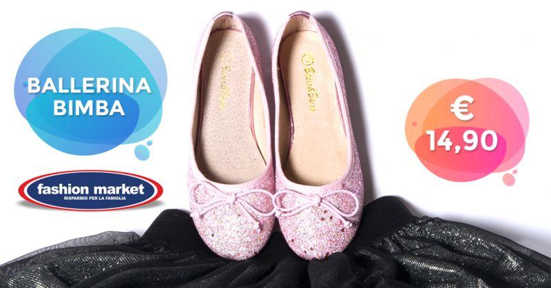 Offerta Ballerine per bambina - Occasione Scarpe Ballerine per Bambina Nuova Collezione