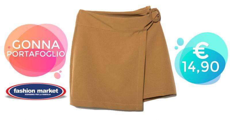 Offerta Minigonna a portafoglio - Occasione Modelli di Gonna Casual