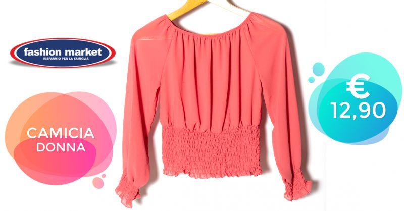 Offerta Camicia Rosa Romantica da Donna - Occasione Camicetta da Donna per un look elegante