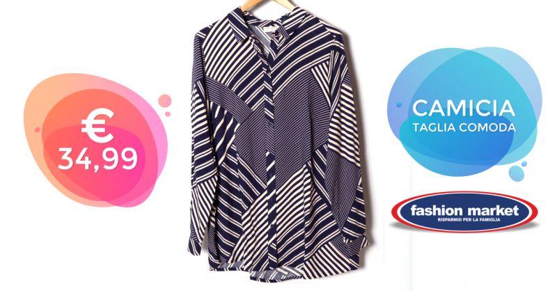 Offerta Camicia donna per taglie comode - Occasione Abbigliamento Donna Taglie forti