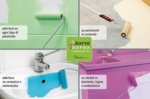 Offerta vendita di vernici per mobili pavimenti - Promozione vernici per piastrelle e sanitari