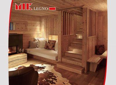 offerta realizzazione soggiorni in legno massello promozione distribuzione soggiorni in legno
