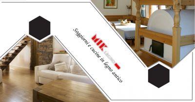 offerta servizio realizzazione e produzione soggiorni e cucine artigianali in legno antico