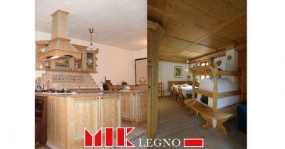 offerta realizzazione e restauro di cucine e soggiorni in legno belluno