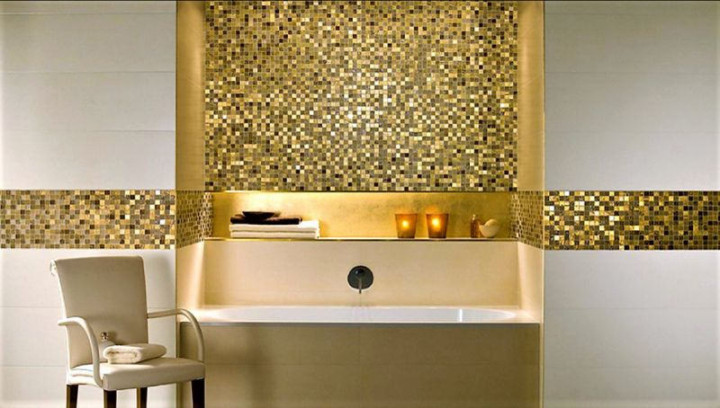 Offerta realizzazione bagni pavimenti in mosaico sihappy
