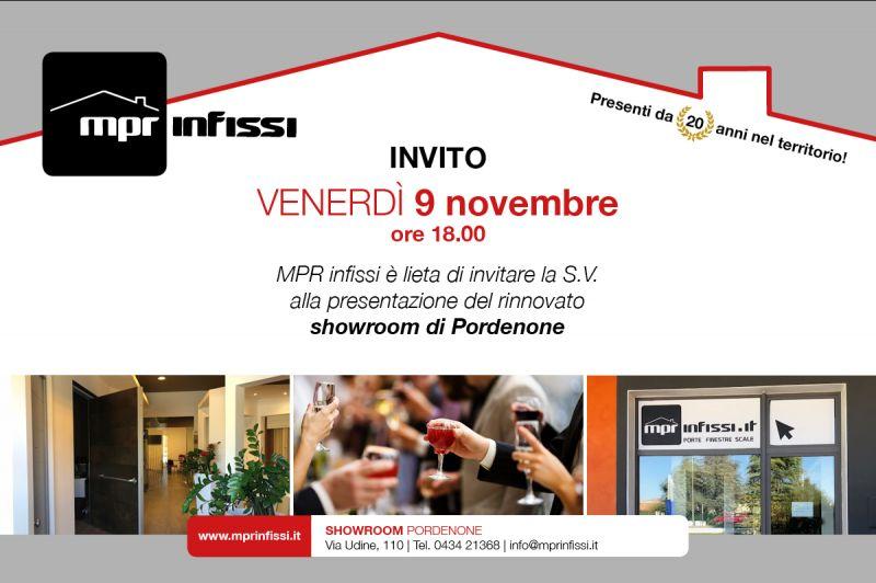 offerta inaugurazione showroom pordenone - promozione mpr infissi showroom rinnovato Pordenone
